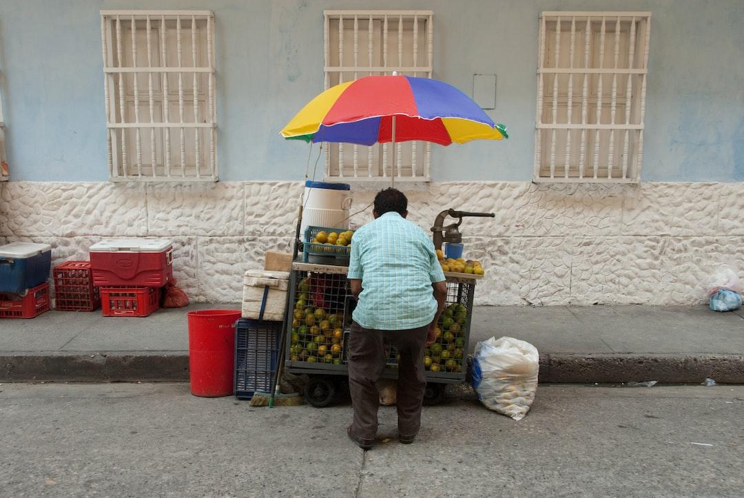 Street Vendor in Bogota, Colombia
