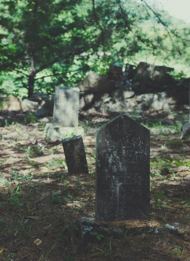 A click in a cemetery