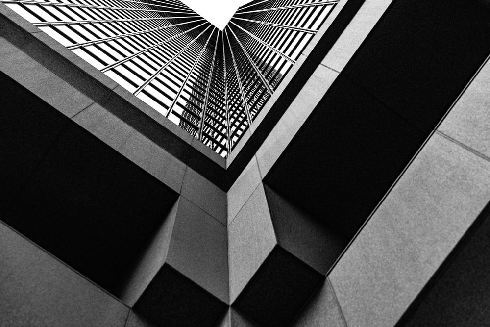 worms eyeview of a skyscraper