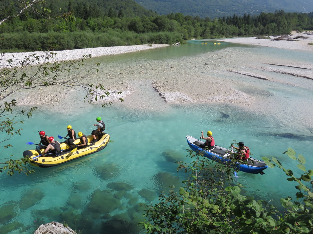 """""""Climate reality"""" In this hot summer time we have experienced the shortage of water also in the  river Soča (Isonzo), which is very popular for different sport activities."""
