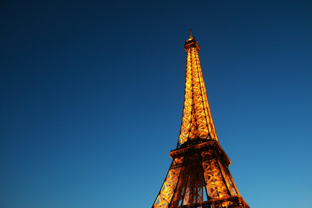 man's eye view of Eiffel Tower