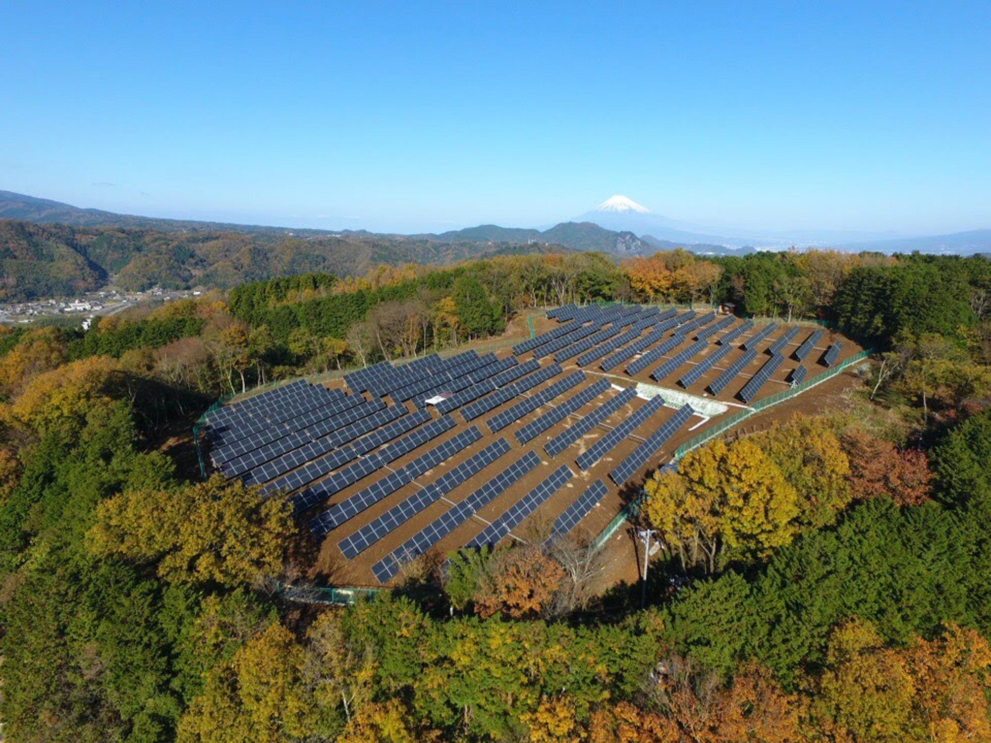 solar panel energy farm