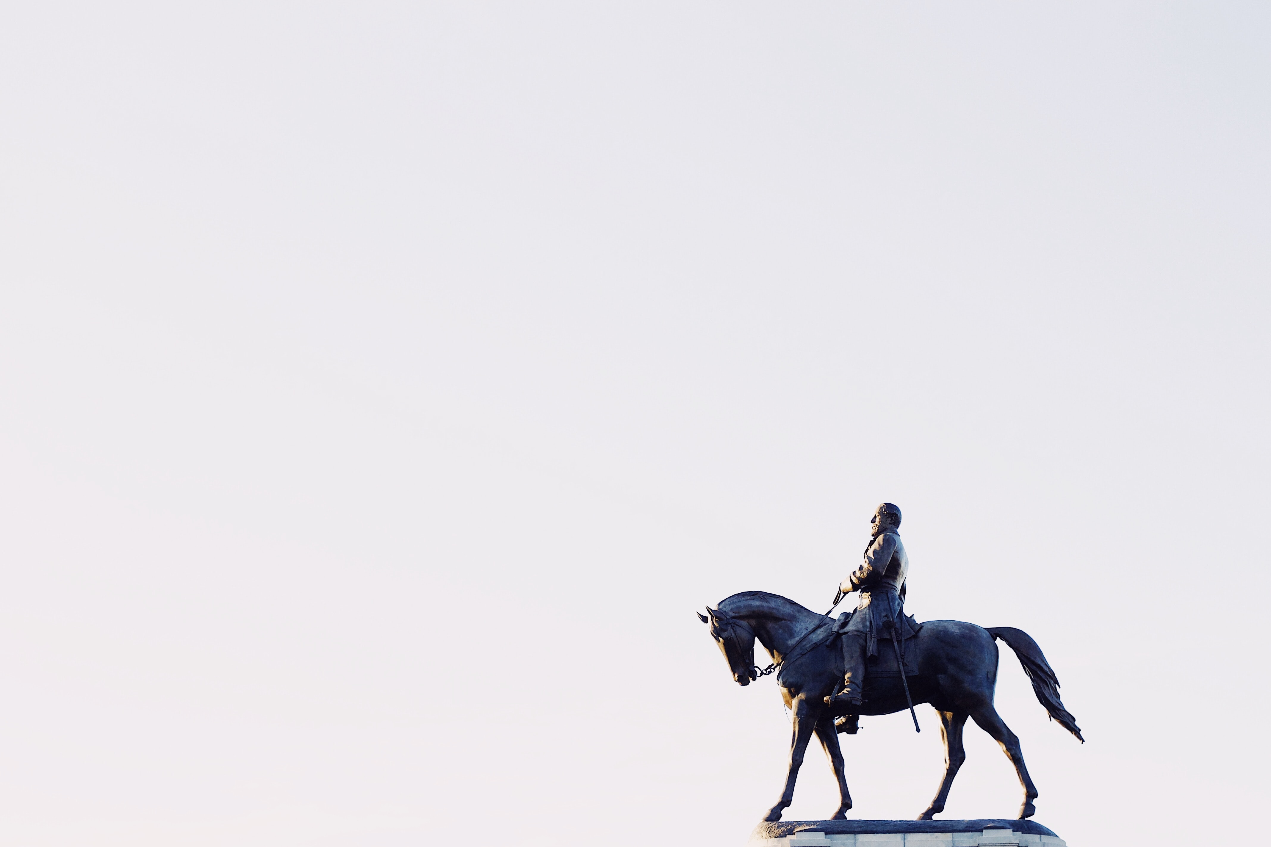 A statue of a person riding a horse.