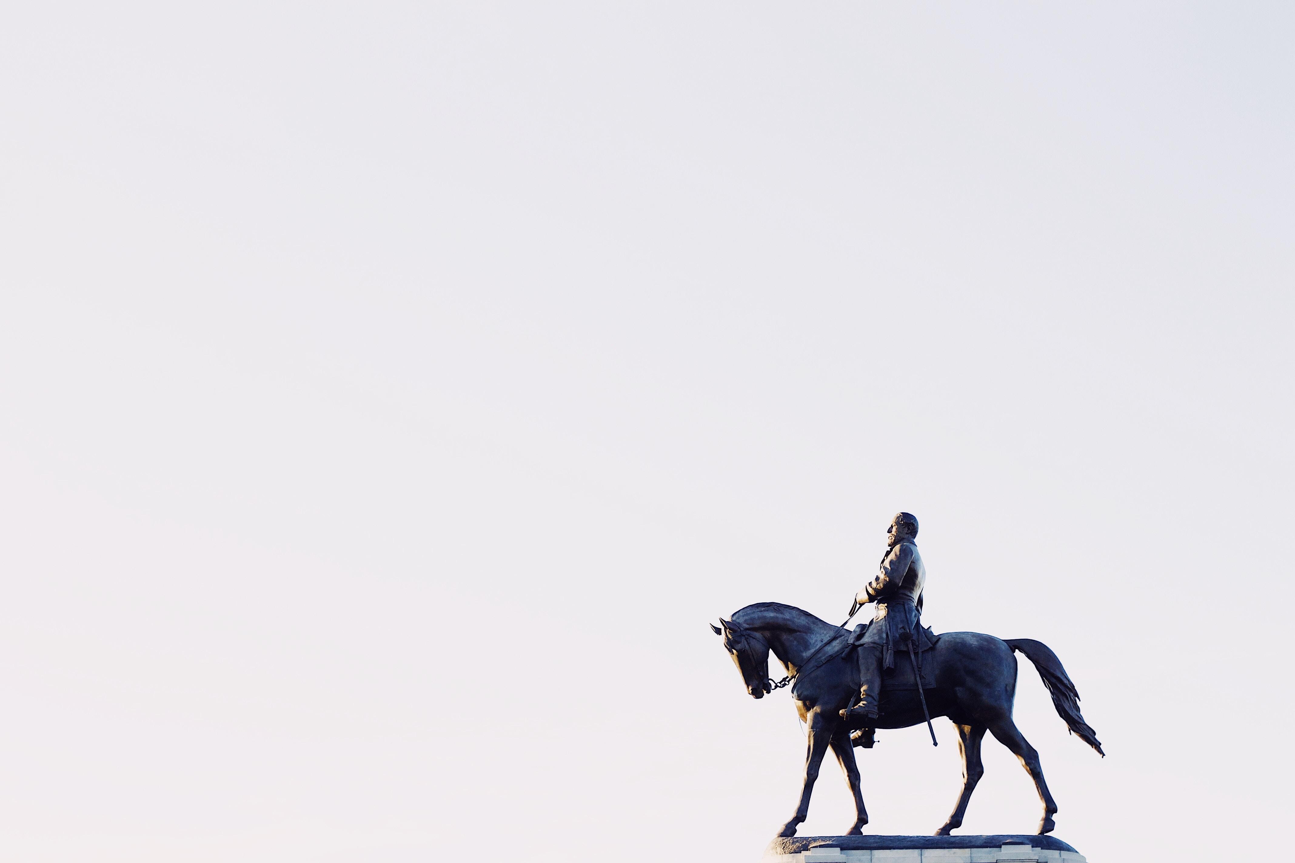 man riding horse illustration
