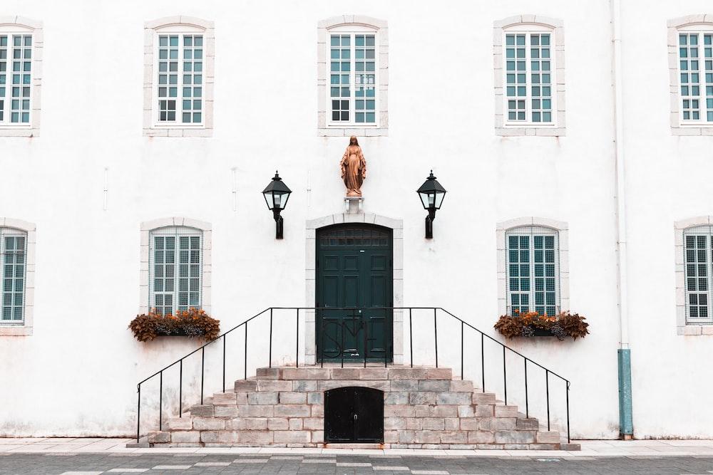 white residence house