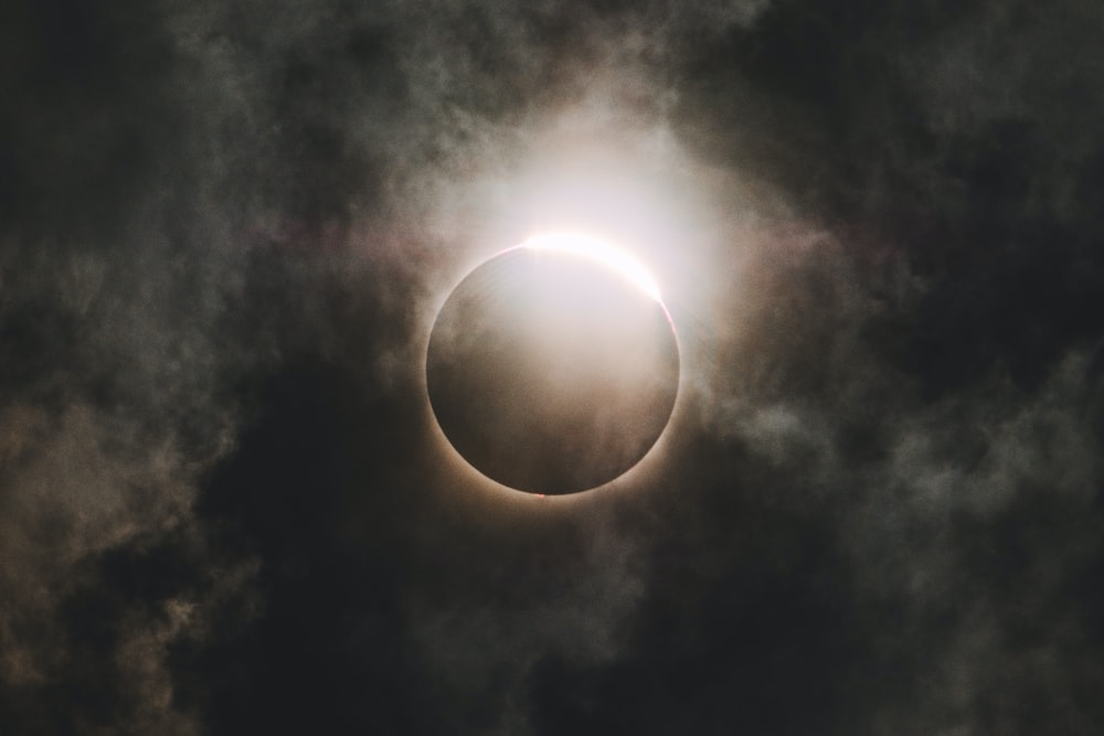 Cool Wallpapers Backgrounds A Solar Eclipse Darkening The Sky As Clouds Passed By It