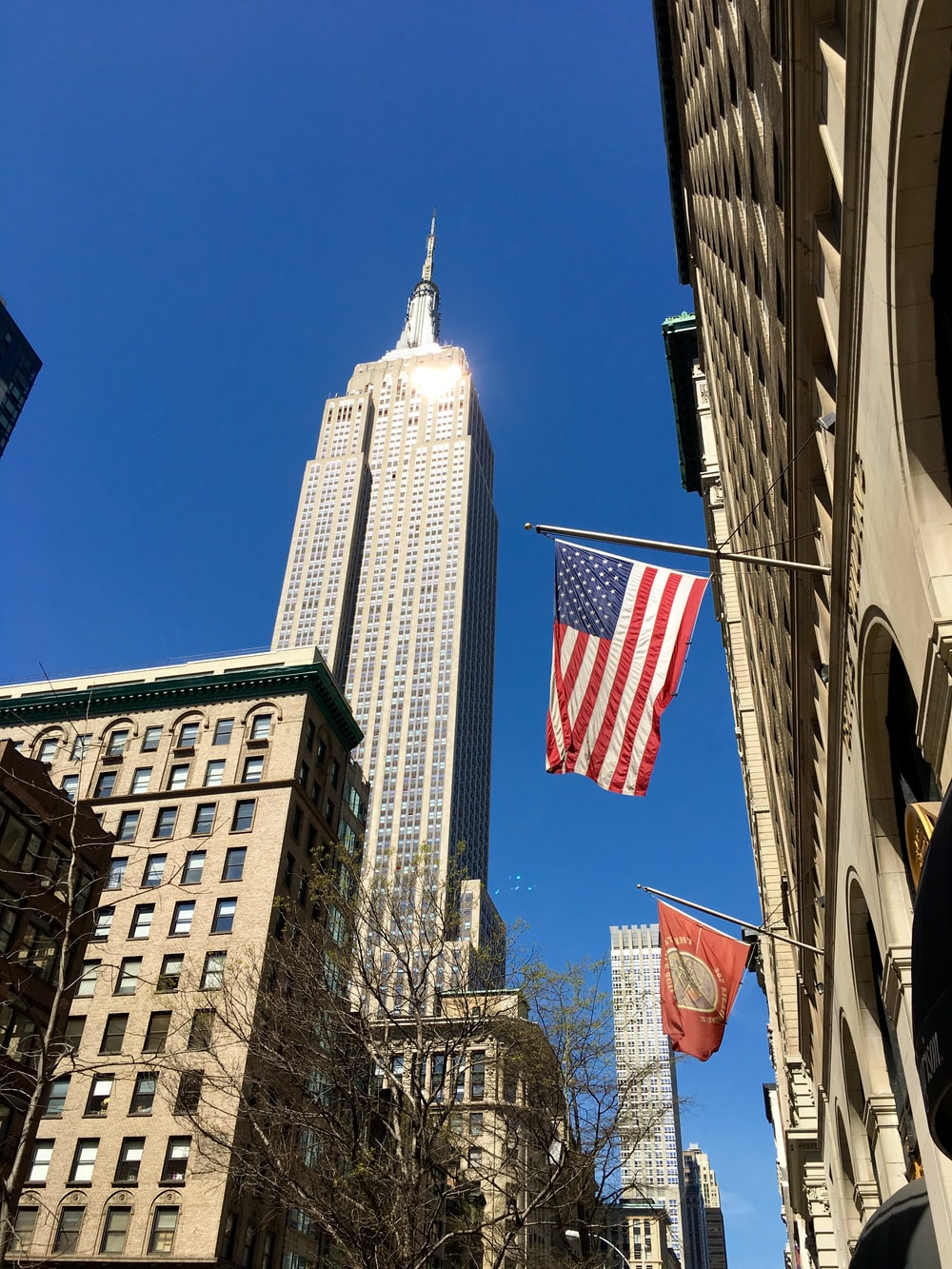 man's eye view of Empire State Building