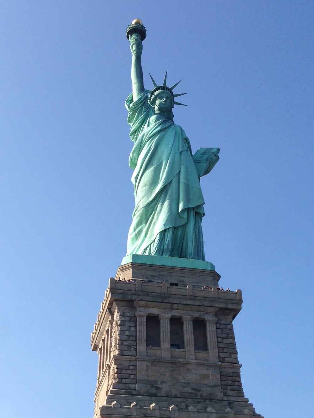 bottom view of Statue of Liberty