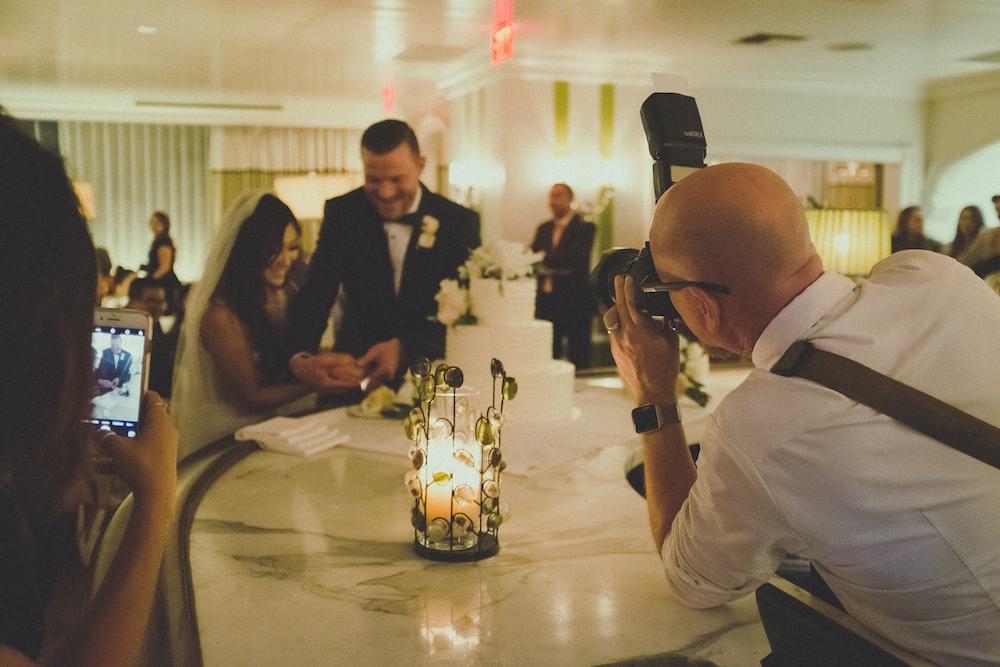 wedding couple inside room