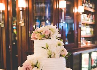 3-layer fondant cake