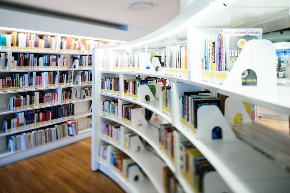 bookshelf full of book