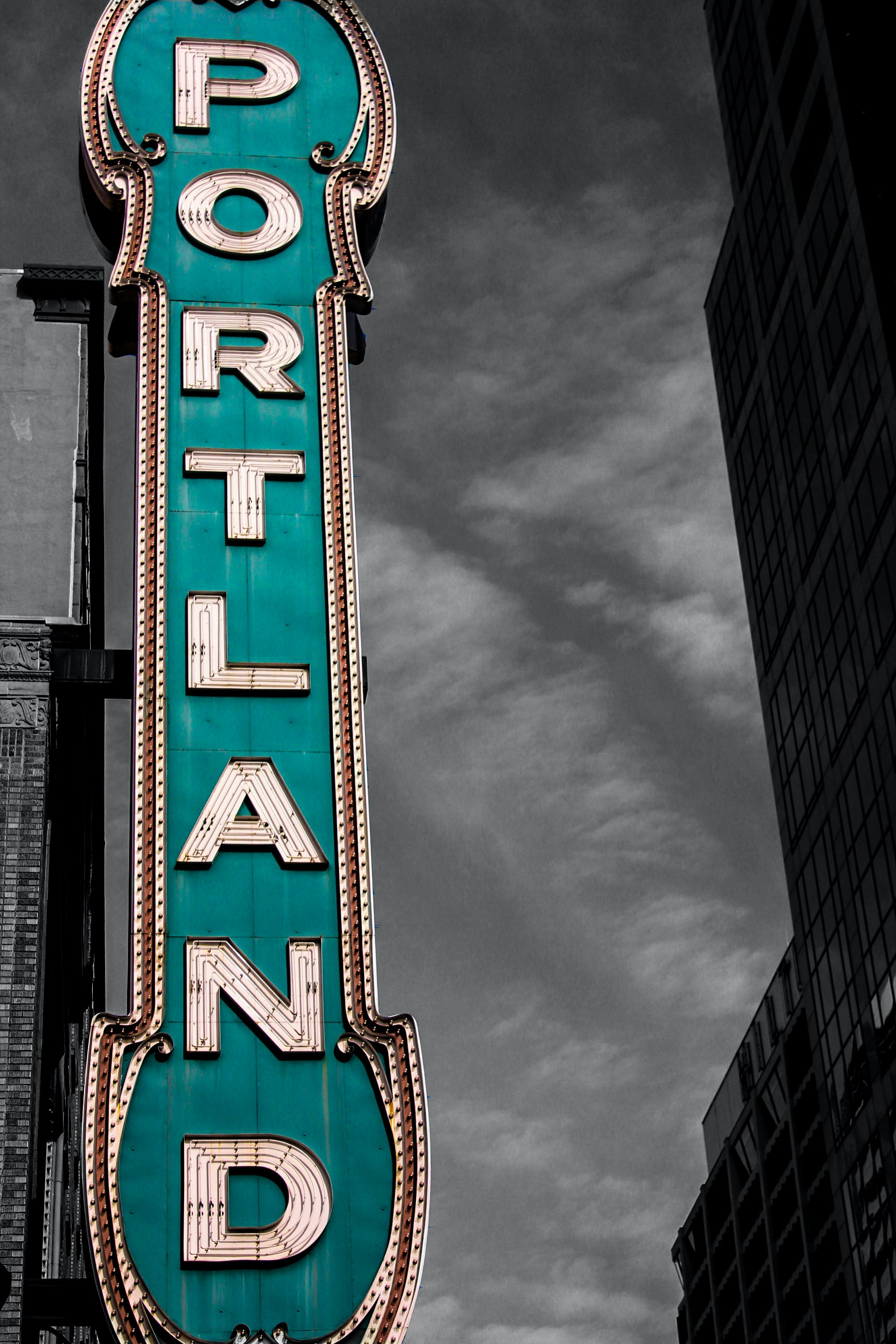 """A sign that says """"Portland."""""""