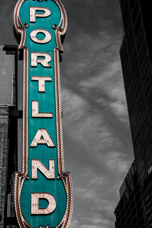 Portland signage