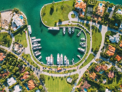 birds eye view of landscape miami zoom background