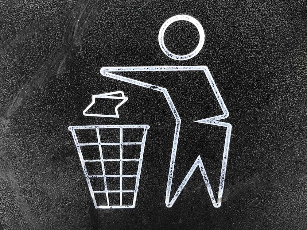 litter signage