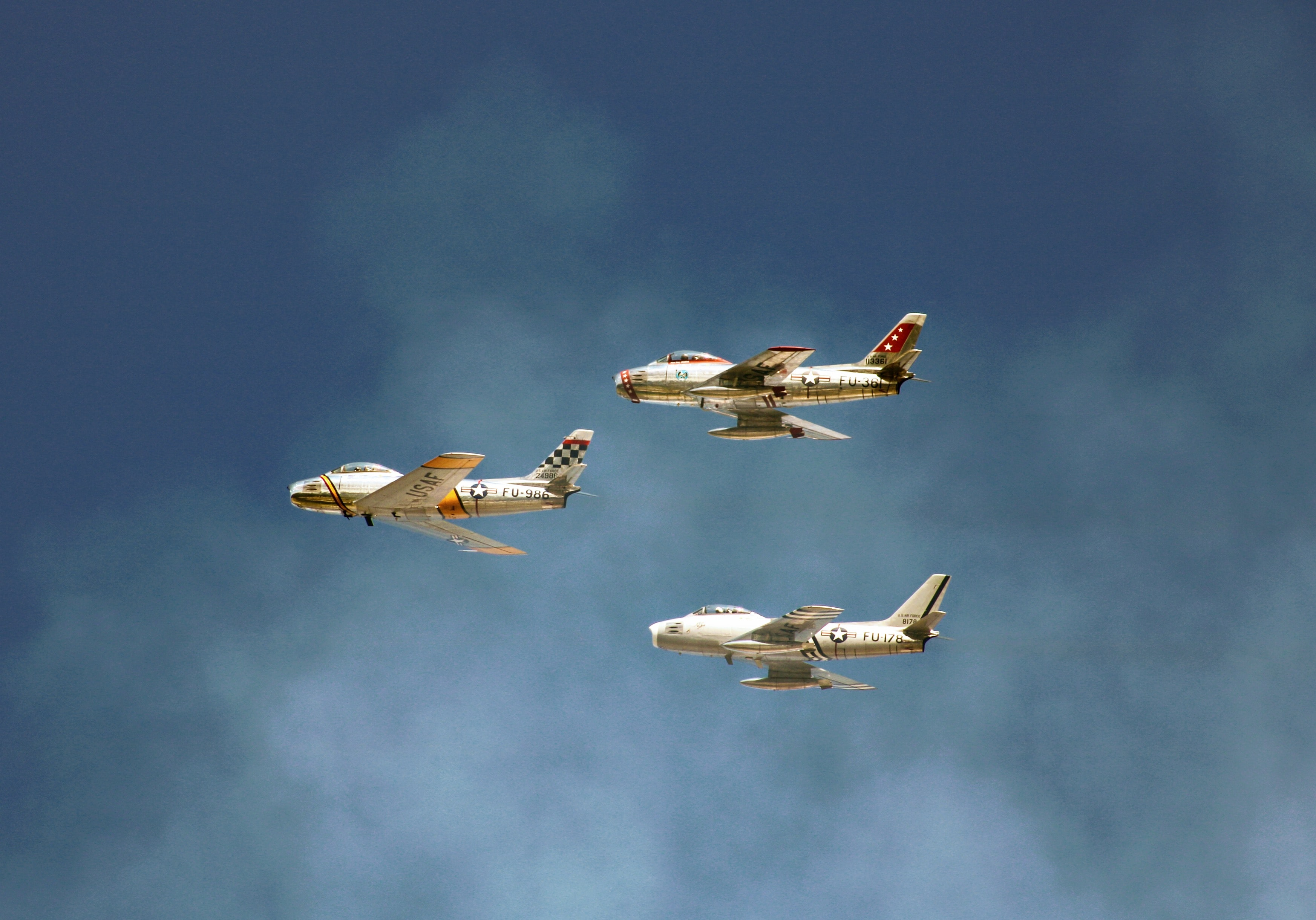 three white planes