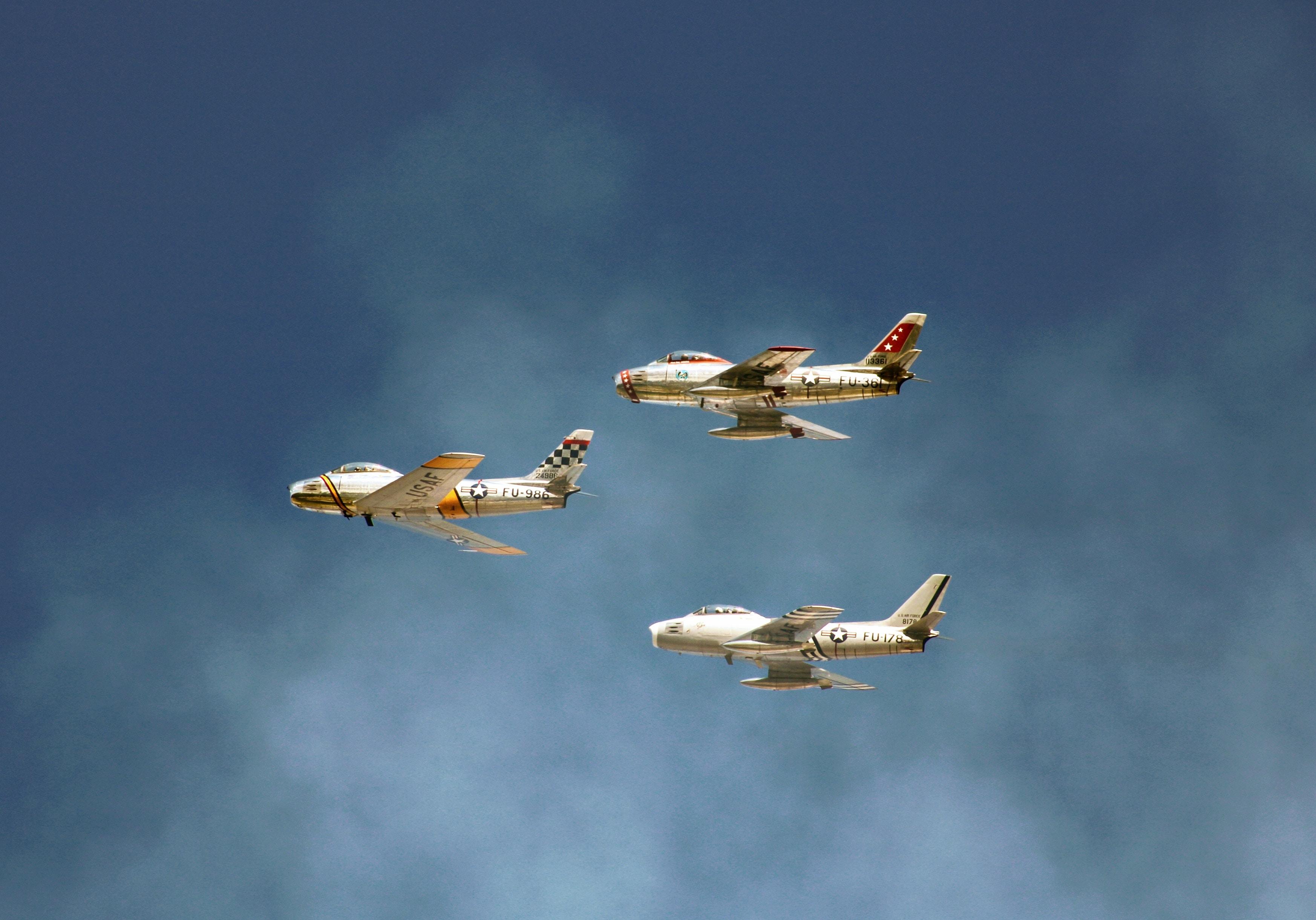 three white planes