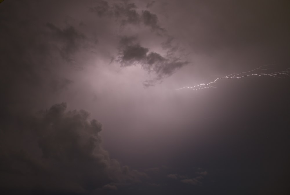 worm's eye view of lightning