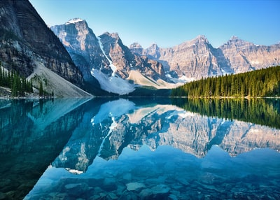 scenery of mountain banff teams background