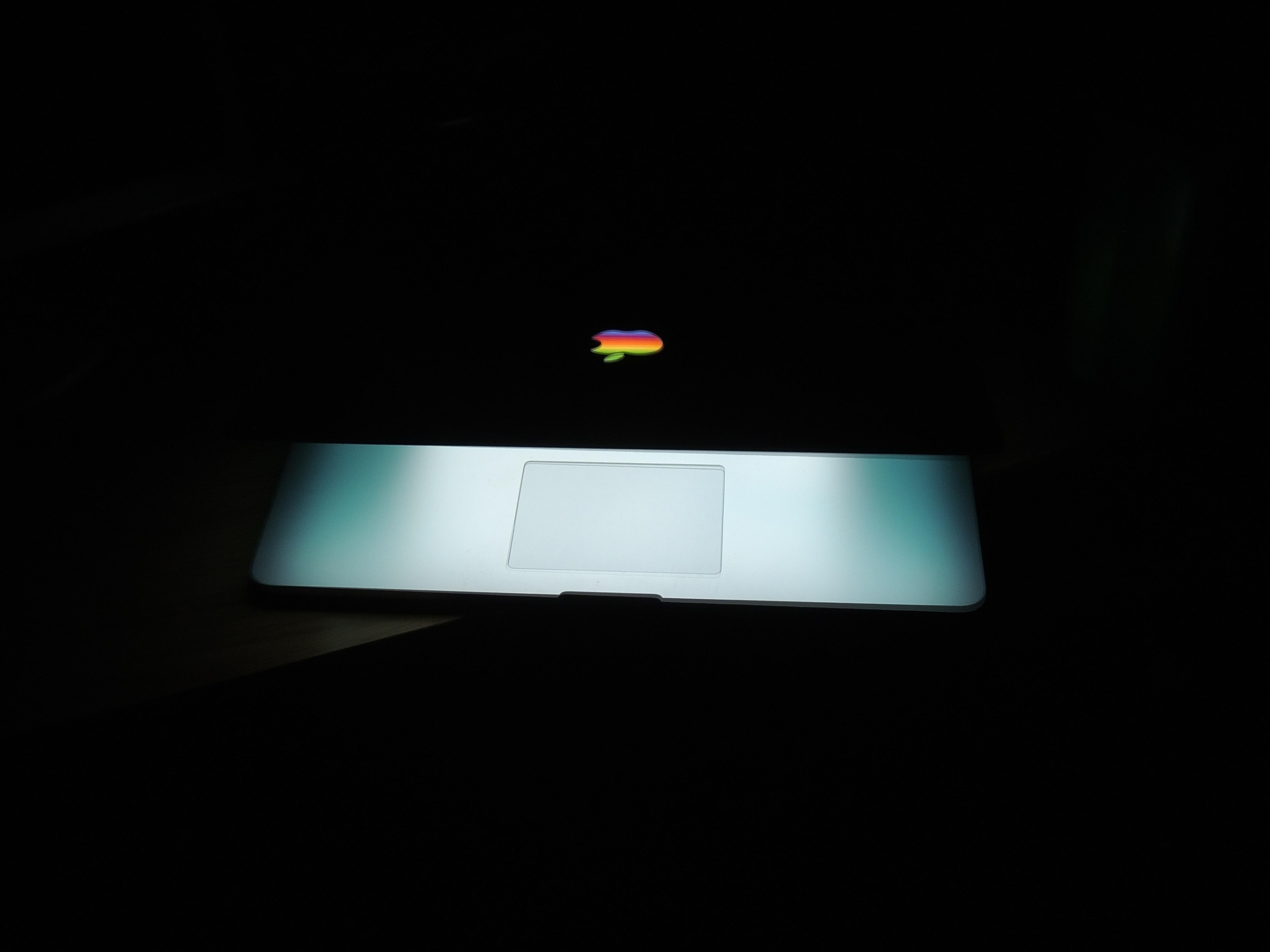 silver MacBook