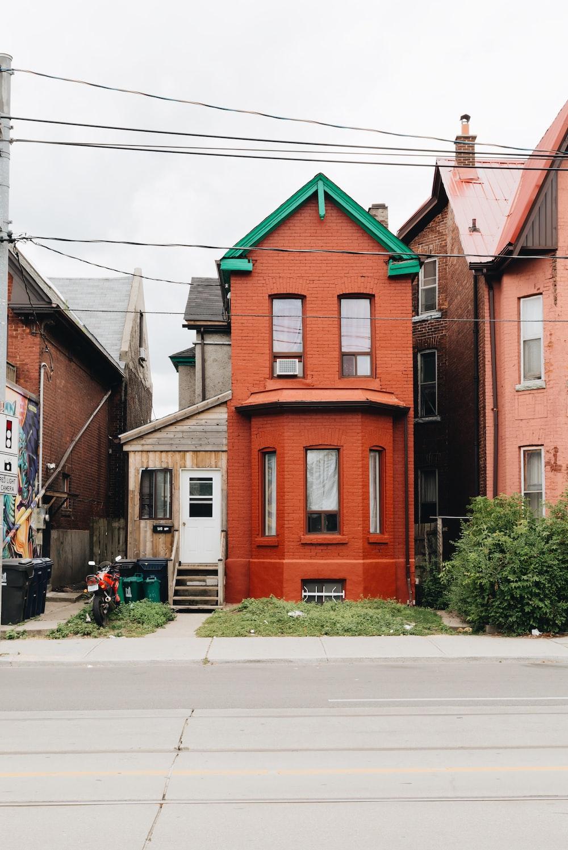 brown 2-storey house