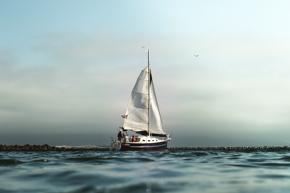 white and black sailboat on calm water