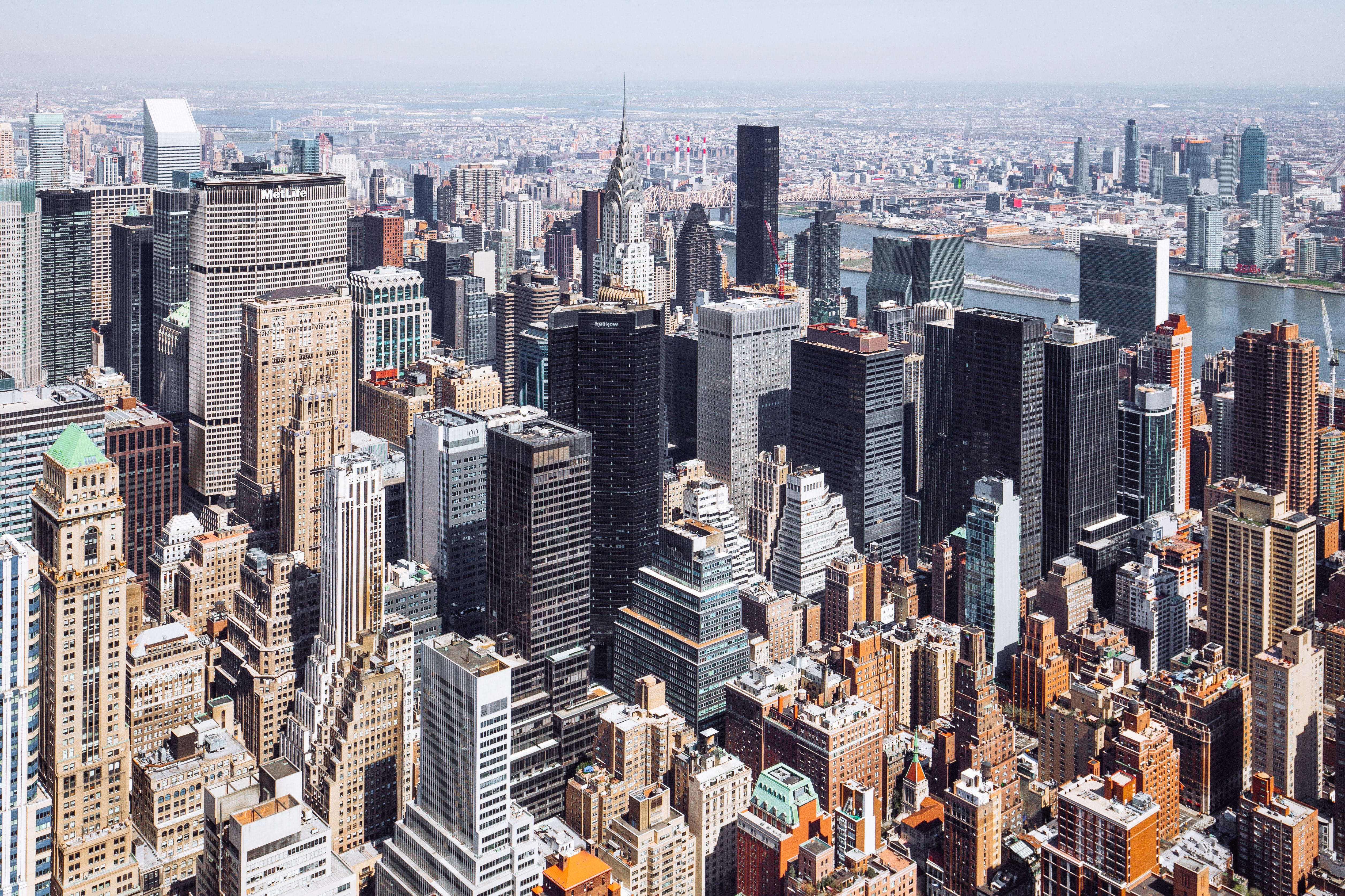 aerial photography of the city at daytime