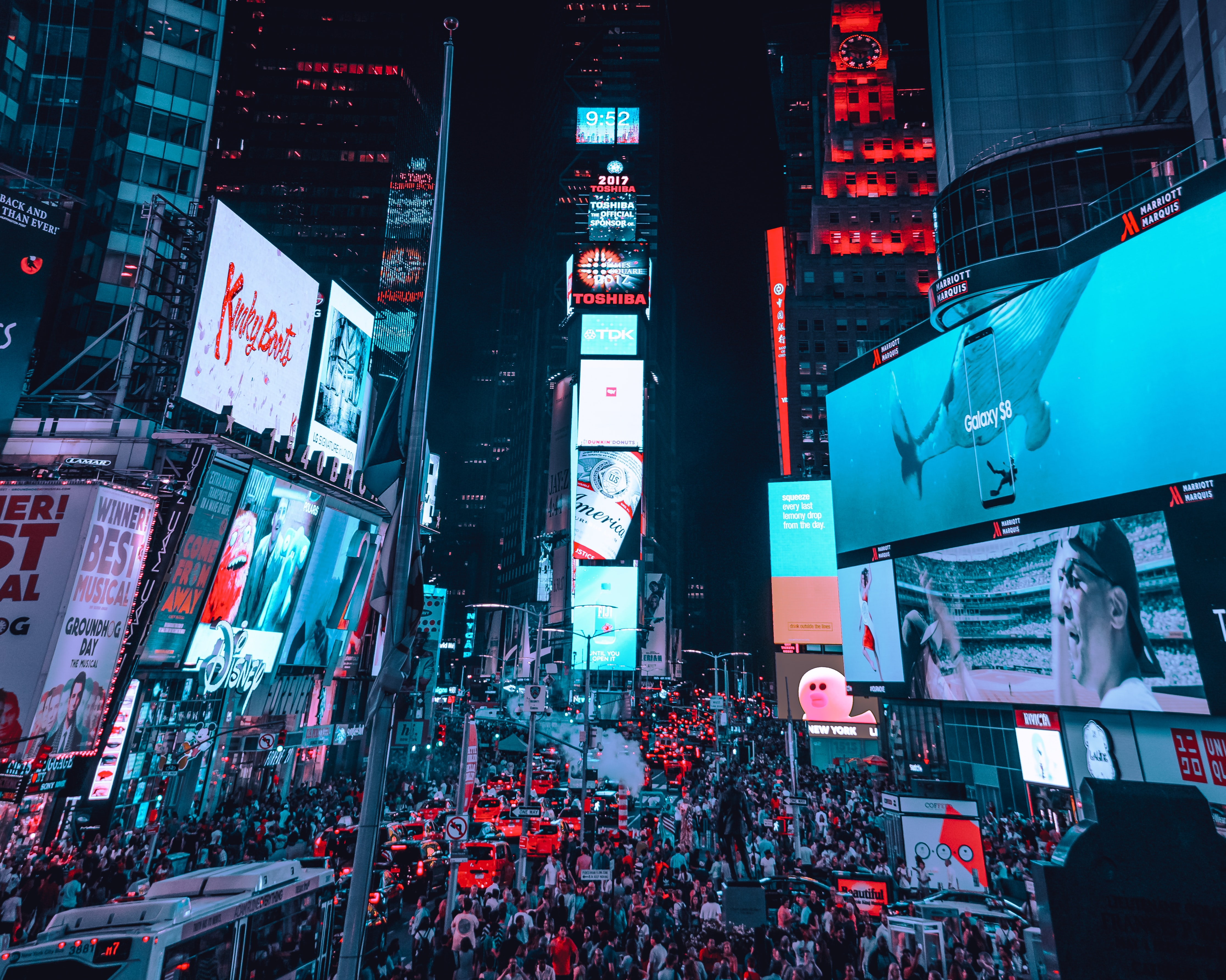 Time Square, New York during night time