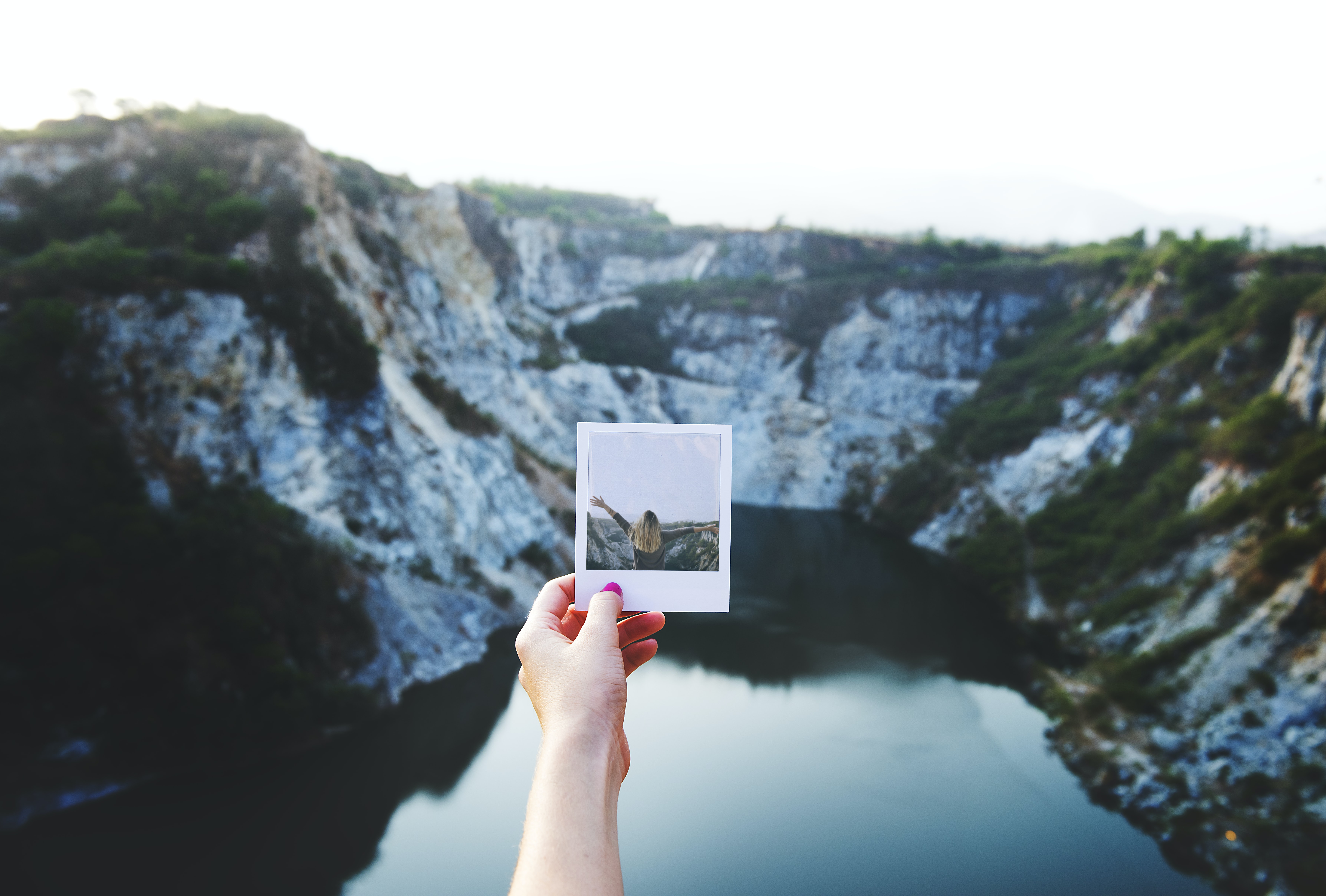 person holding photo