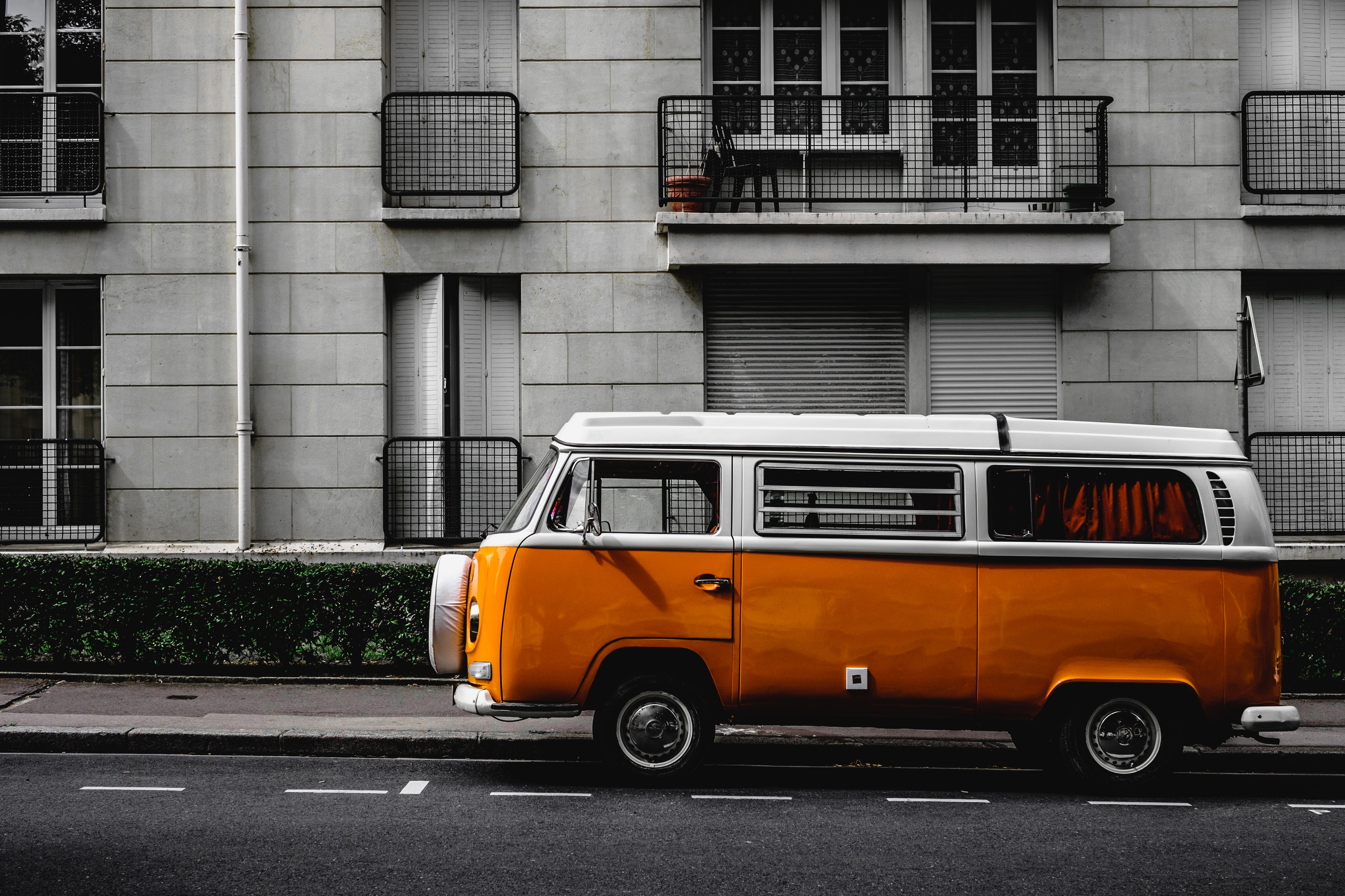 An old VW bus style van.