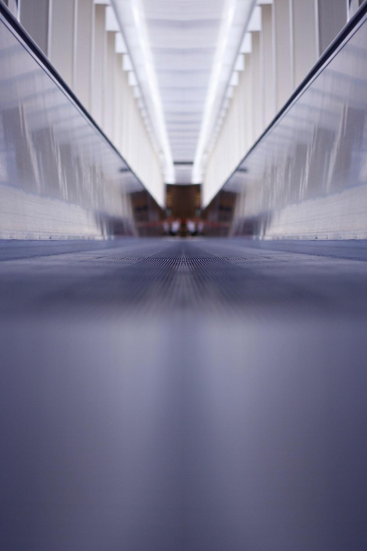 low angle photography of hallway
