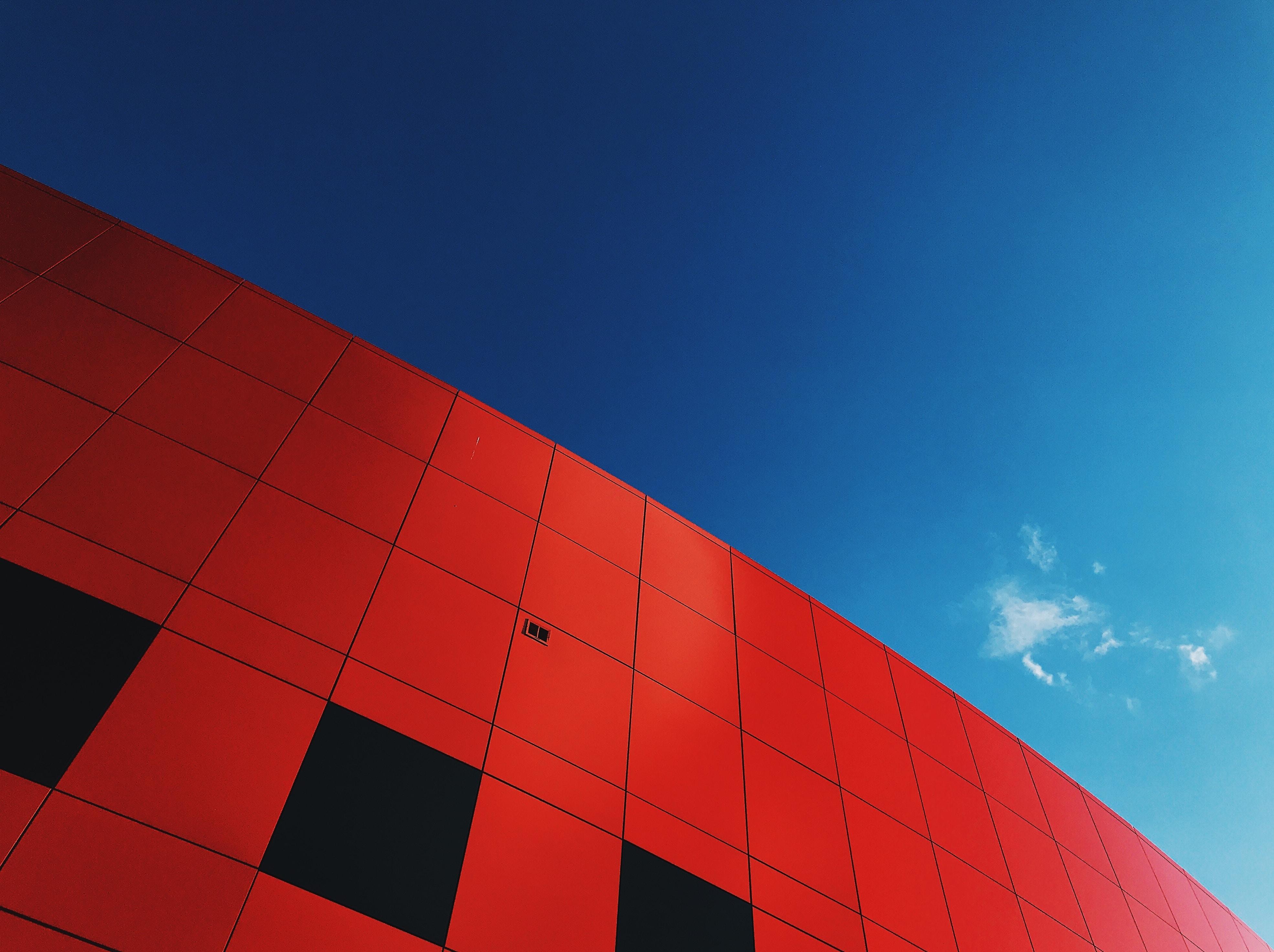 red hi-rise building