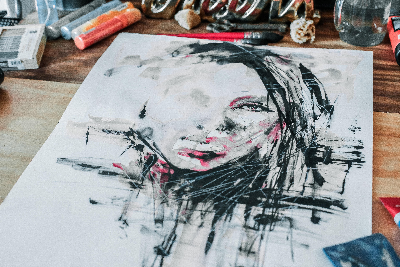 woman face stencil