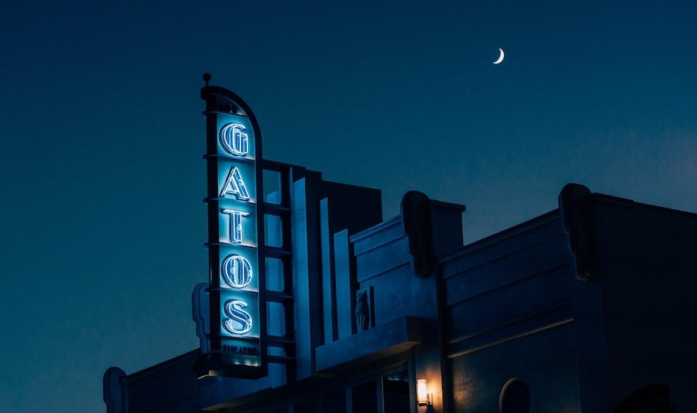 photo of Gatos neon light signage