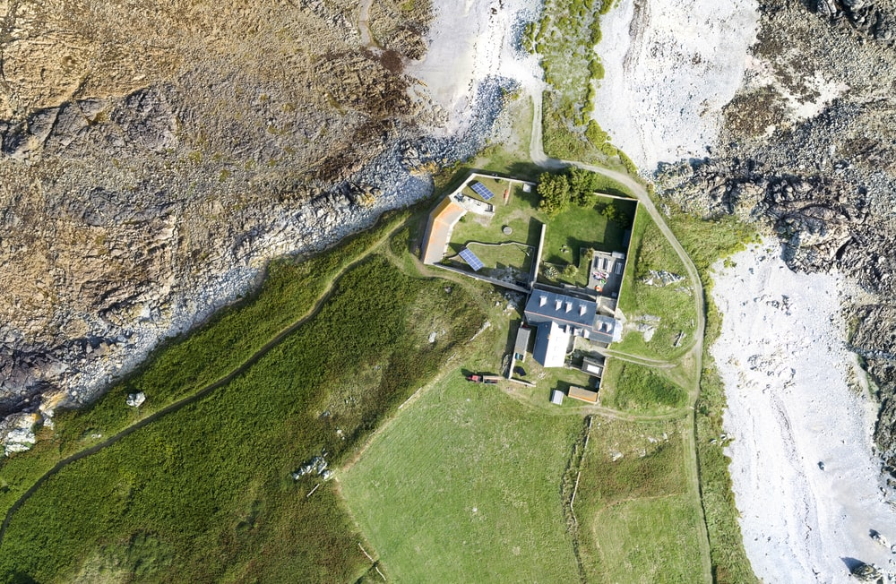 bird's eye view photography of castle