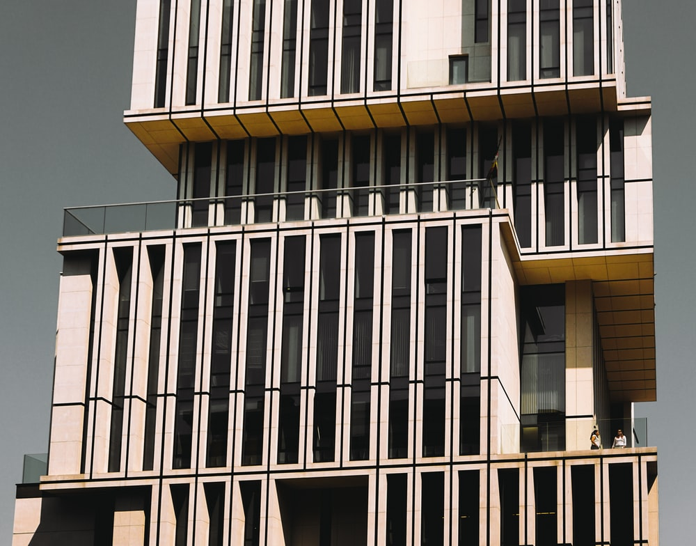 white 4-storey building