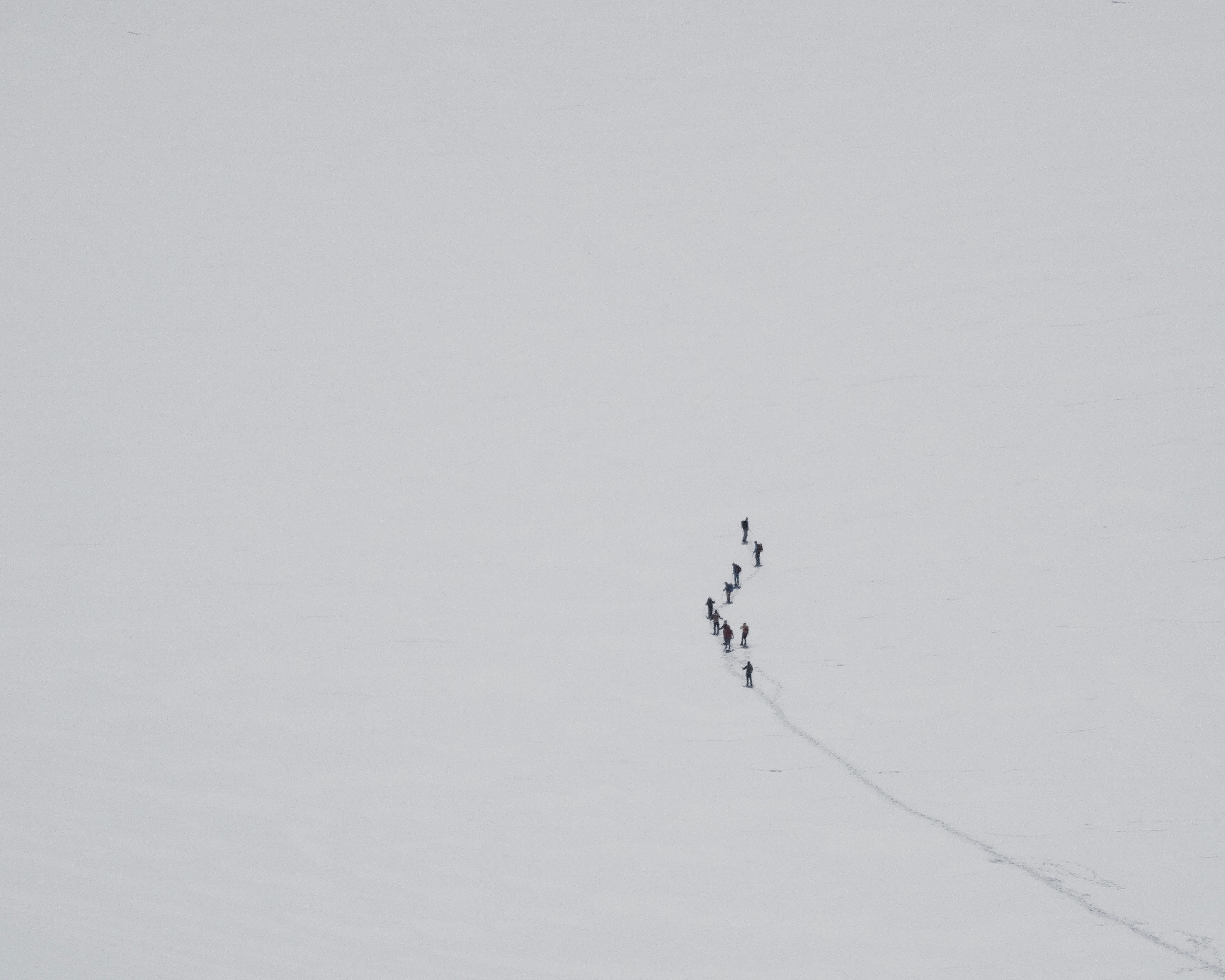 group of people walking on snow during daytime