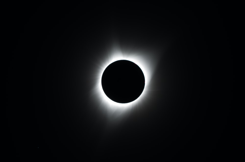 photo of total solar eclipse