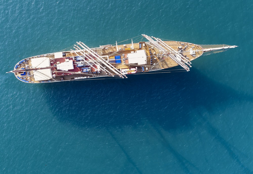 aerial photography of ship on body of water during daytime