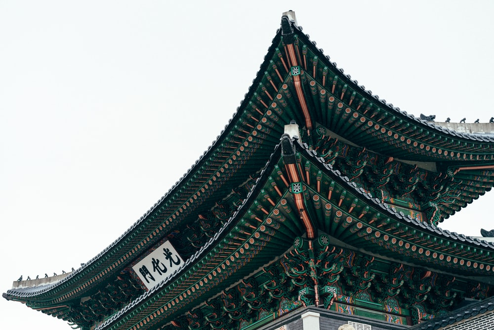 photo of green and gray tori gate