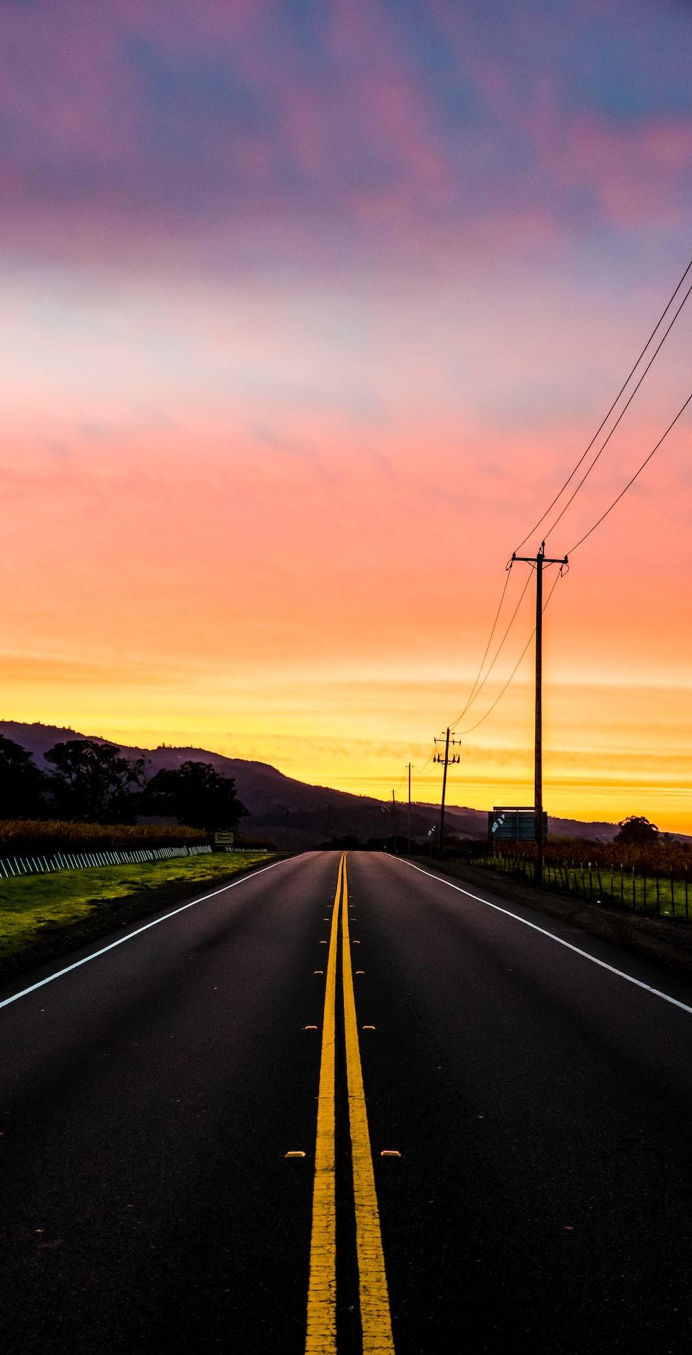 photo of road near mountain