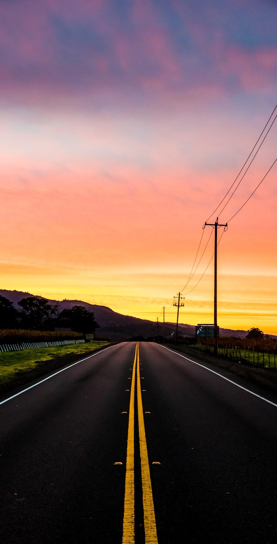 Sunrise in Sonoma county California