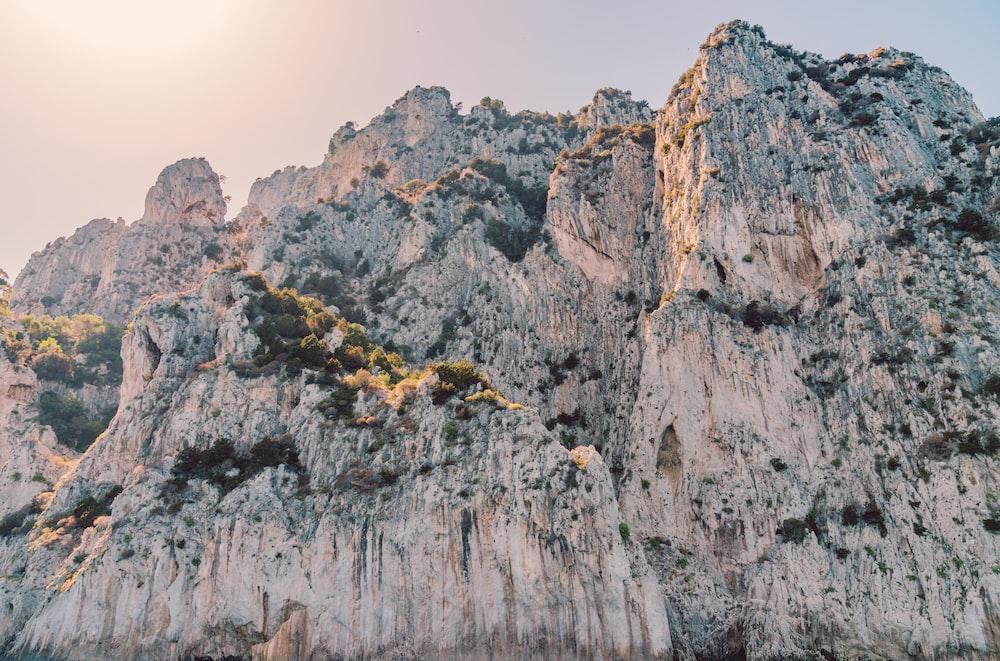 photo of gray mountains