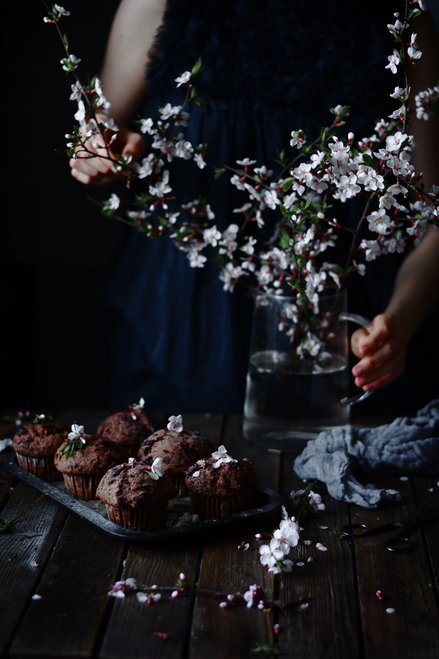 flat lay photography of cupcake