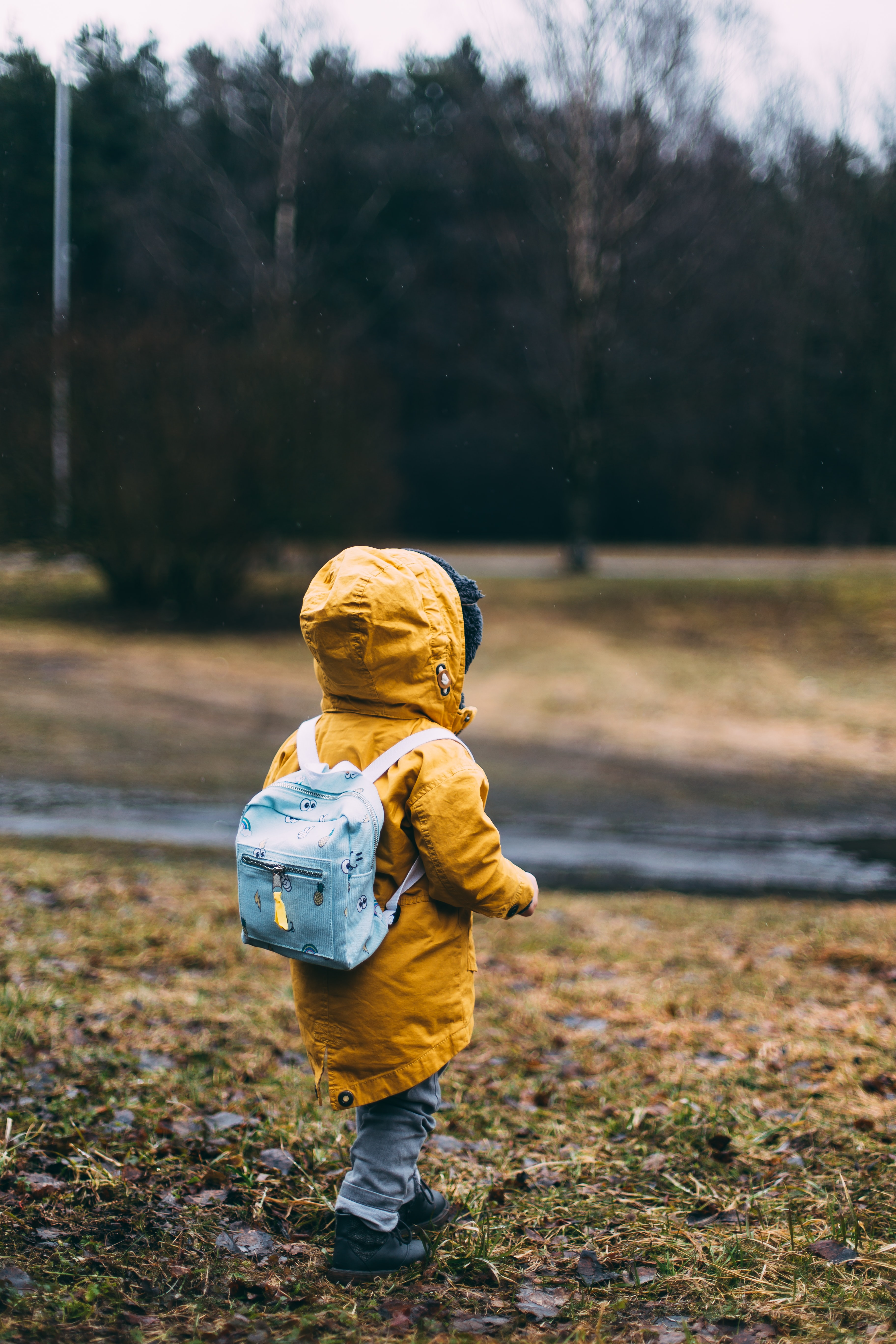 shallow focus photo of toddler walking near river