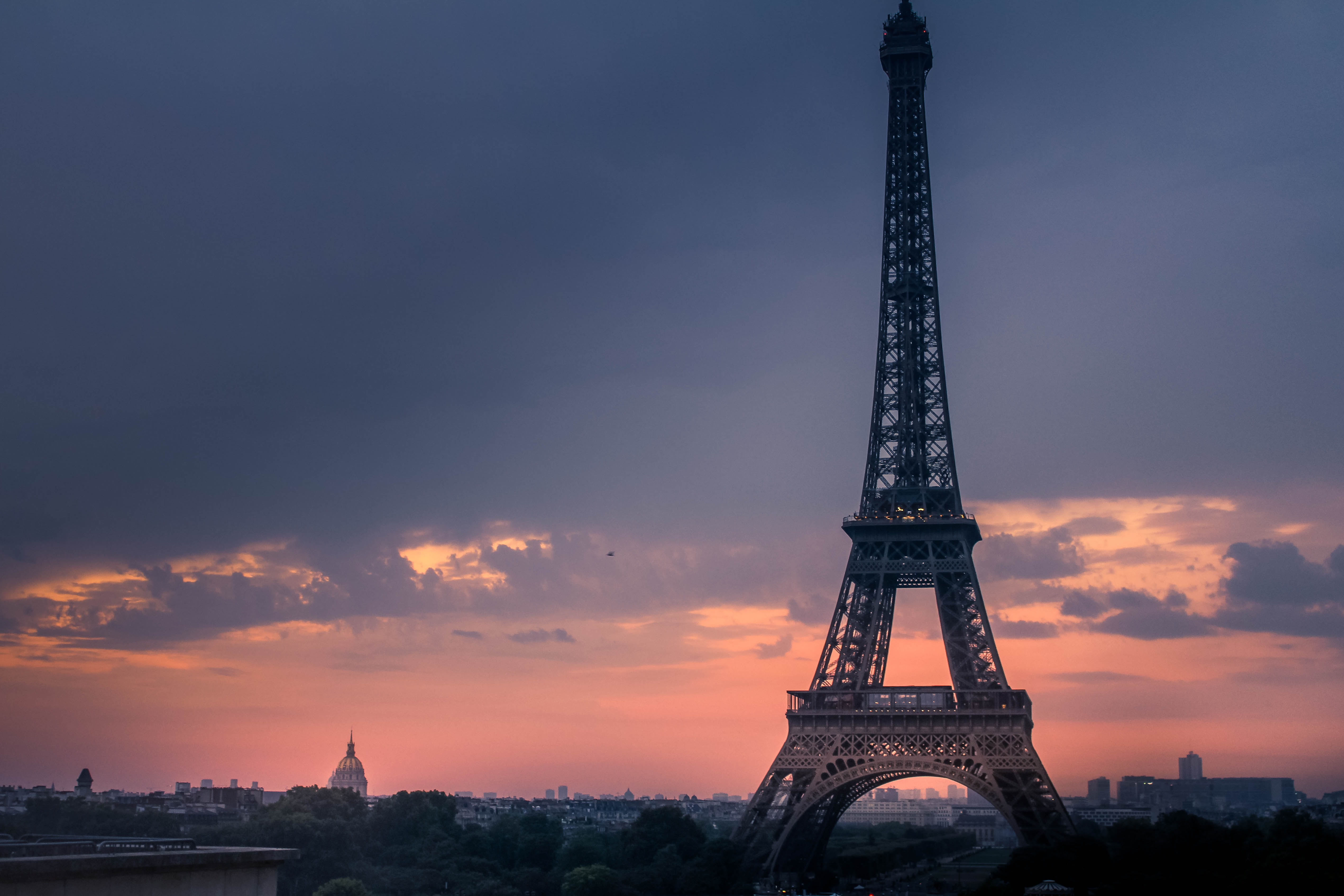 Eiffel Tower during sunset photography