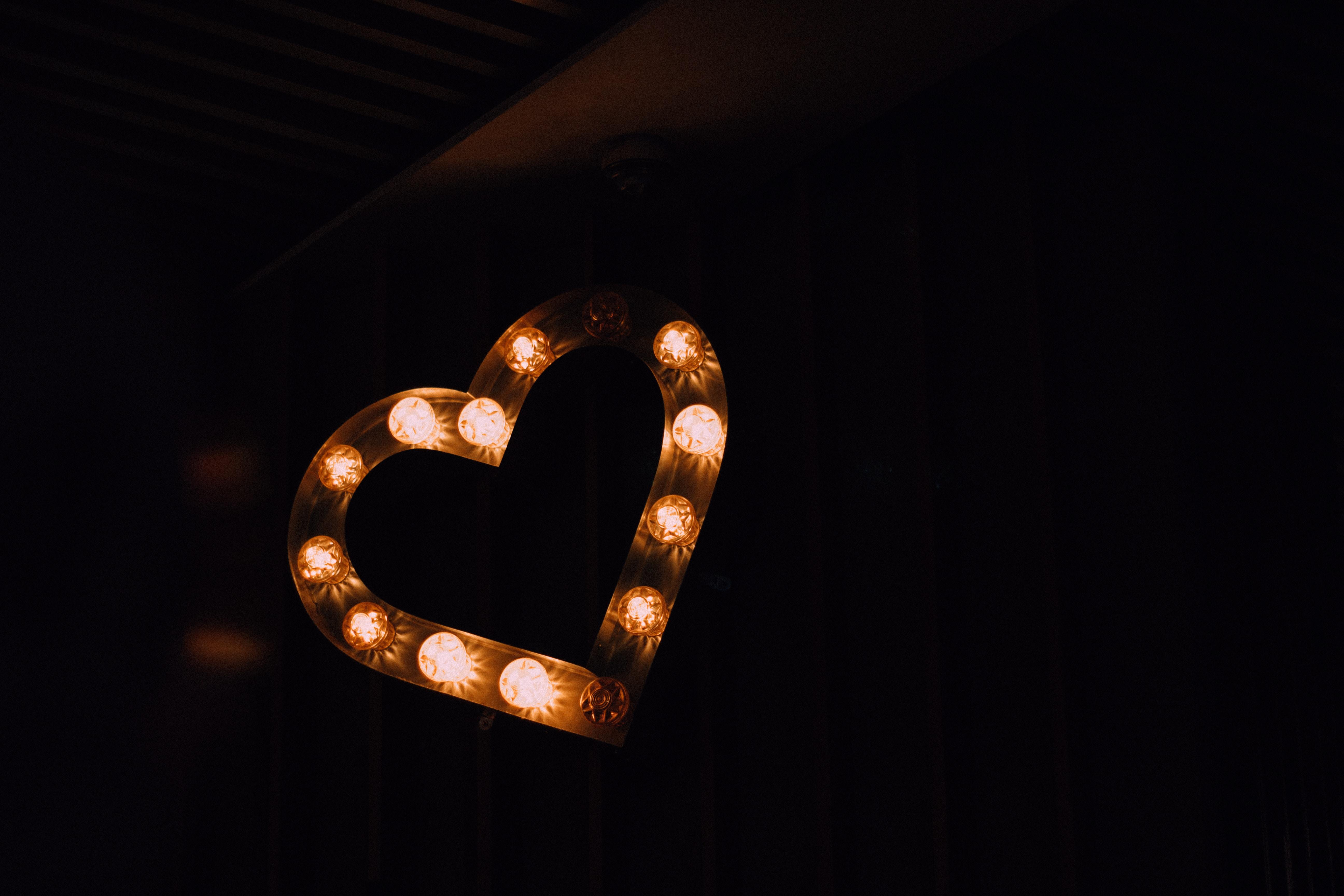 heart-shaped brown wall decor