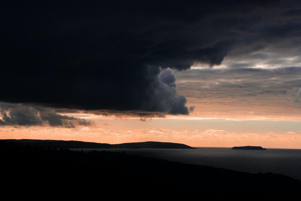 cumulu nimbus clouds over islands