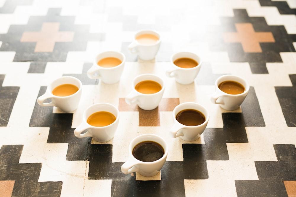 coffee in ceramic mugs