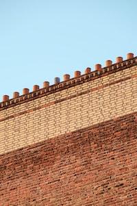 maroon brick wall
